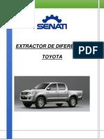 Proyectop Senati Extractor de Diferencial Toyota 2014