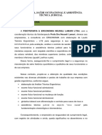 Ergonomia Saúde Ocupacional e Assistência Técnica Judicial