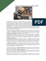 Recursos y Reservas Mineras Bajo El Código JORC