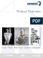 Product Overview Dryers Filter-Dryers & Mixers
