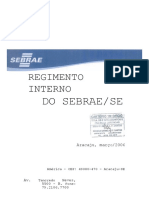 Regimento Interno SEBRAE