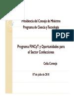 Programa FINCYT y Oportunidades en El Sector Confecciones