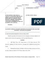 Plaintiff's Original Petition for Writ of Mandamus, Declaratory Judgment, And Injuctive Relief