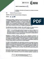 Directiva 37 Men Paro Magisterio 07-06-2017