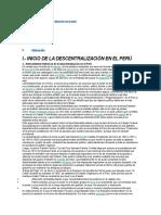 Inicio de La Descentralización en El Perú