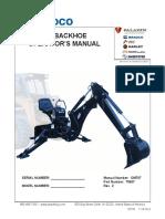 485 Backhoe Operators Manual