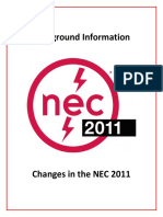Background Infornation Changes NEC 2011
