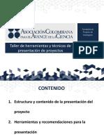 13. Taller de Herramientas Para La Presentación de Proyectos ADAPTACIÓN OCT 20 BARRANQUILLA