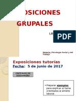 Exposiciones - I Parcial - Ps. Social y Del Trabajo