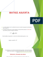 Matriz Adjunta