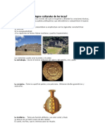 Logros Culturales de Los Incas