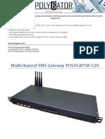 Sms g20 Tech Sheet