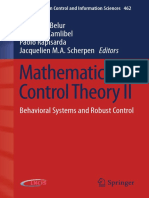 [Madhu N. Belur]Mathematical Control Theory II Behavioral Systems and Robust Control(PDF){Zzzzz}[BЯ]