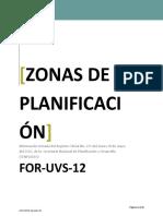 For-uvs-12 Zonas de Planificacion