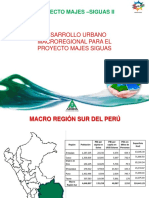 Desarrollo Urbano Macroregional Proyecto Majes Siguas