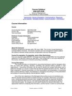 UT Dallas Syllabus for aim6202.0g2.10f taught by Surya Janakiraman (suryaj)