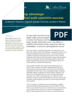 the Relationship Advantage- Maximizing Chief Audit Executive Success