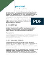 Higiene Personal, Organizacion Panamericana de La Saud