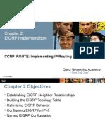 CCNP NetAcad Chapter 2 EIGRP