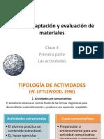 Diseño, adaptación y evaluación de materiales de clase4