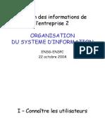 organisation du systeme d'information