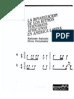 La binarizacion de los ritmos ternarios africanos en América latina. Rolando Pérez Fernández
