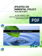 Updates of Environmental Policy in the Philippines 2017