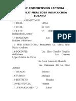 Plan Lector Tercer Grado Iemil 2012 Carmen Lm