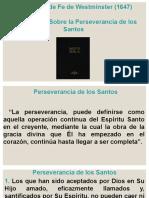 Cap-17. Sobre La Perseverancia de Los Santos