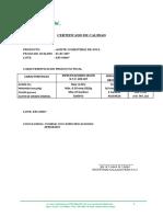 Certificado de Calidad Aceite de Soya Ef1 050517