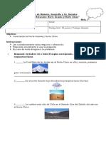 Prueba 5º..Zonas Naturales de Chile