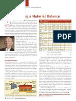Making A Material Balance