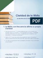 Claridad - Necesidad - Suficiencia de La Biblia - 24-05-2017