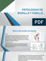 Actividad Patologias de Rodilla y Tobillo