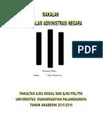 Makalah Etika Administrasi Dan Penerapannya Di Indonesia
