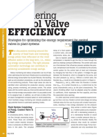 Considering Control Valve Efficiency