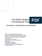 Introduction - Architecture and Aesthetics