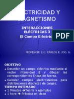 FISICA III - InTERACCIONES ELECTRICAS 3-Campo Electrico Para Distribuciones Discretas