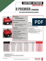 Electric Actuator Catalog 2010