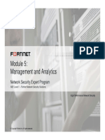 Fortinet - Module 5 (Management & Analytics)