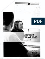 Microsoft WORD 2003_Advanced