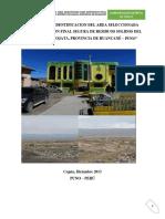 Informe de Identificación Del Área Selecionada Para Disposición Final de RS de Cojata