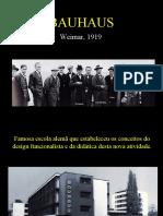 Gropius e a Bauhaus e ULM