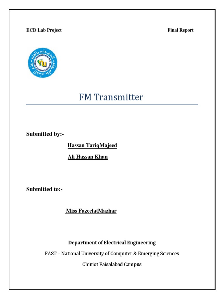 Fm Transmitter Electronics Project Amplifier Frequency Modulation Mini Circuit