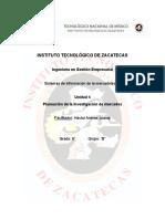 SIM - Unidad 4 Planeación de La Investigación de Mercado - Diana M. Basurto Oliva