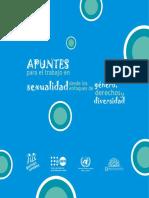 Apuntes Para El Trabajo en Sexualidad Desde Los Enfoques de Género, Derechos y Diversidad
