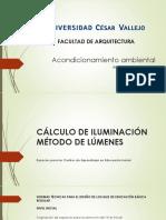 Cálculo de Iluminación Método de Lúmenes