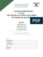 reporte tecnico sobre el uso del polvo en vidrio como aditivo para el concreto