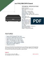 Panasonic PI-HL2108K DVR 8 Channel -Securekart