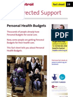 28 Personal Health Budgets